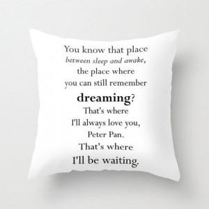 peter pan nursery pillow