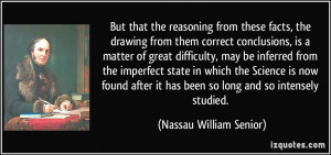 More Nassau William Senior Quotes
