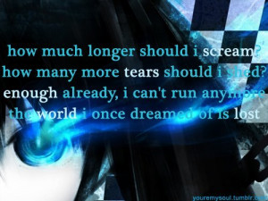 anime, black rock shooter, lyrics, quote, song - inspiring picture on ...