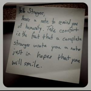 Random & selfless acts of kindness. We may not be able to change the ...