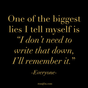 writing quote image page