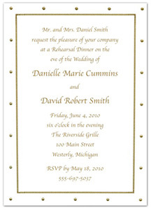 Popular Wedding Rehearsal Dinner Invitation Wording