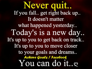 never quit #inspiration #quotes