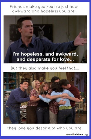 Friends tv Show Pictures With Quotes Friends tv Show Friendship