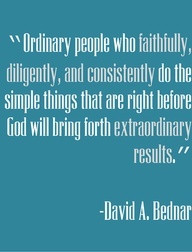 David A. Bednar quote - #Consistency #Results #Success
