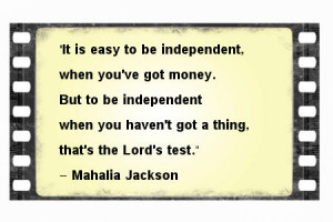 Another Quote about being Independent