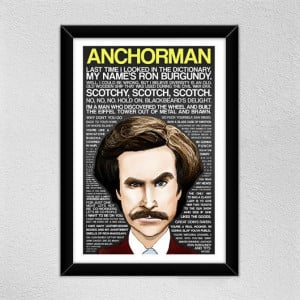 ... Ferrell -- Ron Burgundy // Quotes -- Christmas Gift on Etsy, $18.00