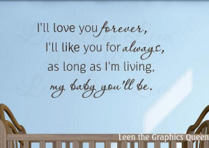 ll Love You Forever Wall Decal Saying
