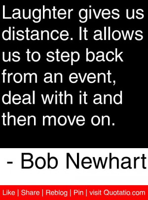 ... event deal with it and then move on bob newhart # quotes # quotations