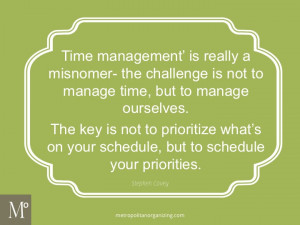 Stephen Covey Time Management Quotes