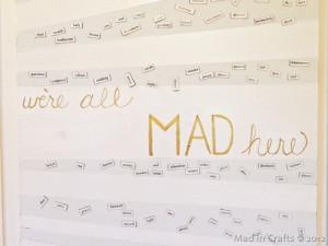 Martha Stewart gilding effect to paint the Alice in Wonderland quote ...