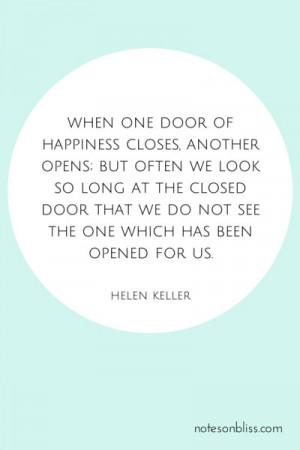 Helen Keller When One Door Closes Quotes