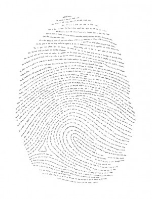 hand-drawn fingerprint with one verse from every book of the Bible ...