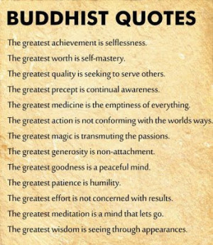 Buddhism discourages fanatical perfectionism. The Buddha taught his ...