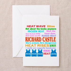 ... Greeting Cards > Richard Castle Funny Quotes Greeting Cards (Pk of
