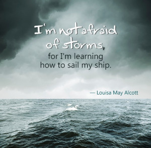 ship and sailing quote on storm