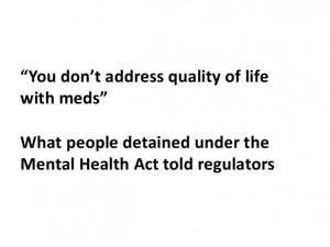 CQC Mental Health Act quotes