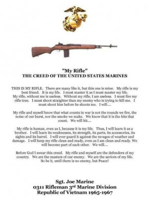 Marines Prayer Poem