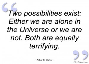 two possibilities exist arthur c