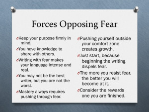 list of fear quotes to remind you to push through fear