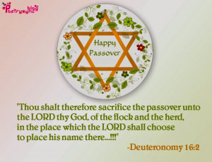 Happy Passover Quotes and Sayings and Pesach Greeting Pictures