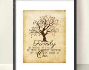 Family Quote Print, Home Decor, Family Roots, 8x10, 5x7, Wall Art ...