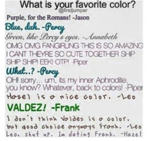 Leo XD. Haha but I know that he would never take Hazel from Frank.