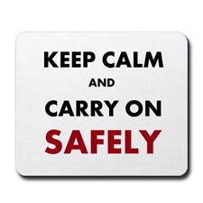 Health and Safety Keep Calm Slogan Mousepad for
