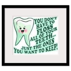 Dental Hygiene Framed Poster Prints