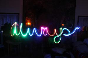 always, cool, love, neon, text
