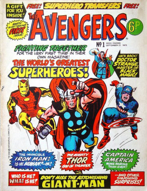 vintage Avengers comic cover. It looks like Hulk hasn't even joined ...