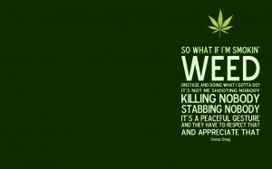 Weed Quote Wallpaper by kannavbhatia