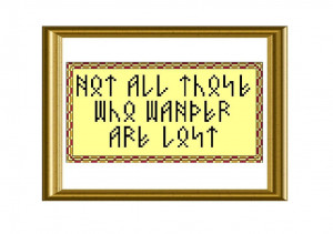 10) Name: 'Embroidery : Lord of the Rings Quote Cross Stitch