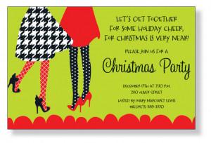 Company Christmas Party Invitations Wording Christmas invitations