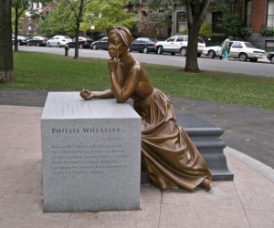 Statue of Phillis Wheatley sculptured by Meredith Bergmann at Boston ...