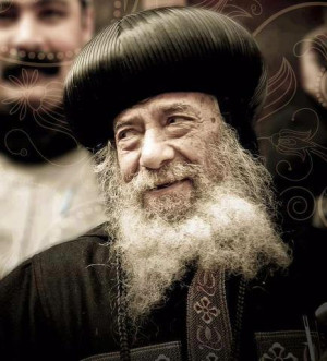 Pope Shenouda – the look and the smile