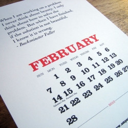 Monthly inspiration for creatives and typophiles. Printable 2010 ...