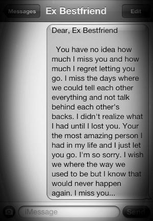 Tumblr Quotes About Ex Best Friends Ex best friend... tumblr