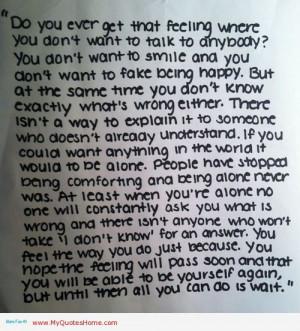Tumblr depression quotes