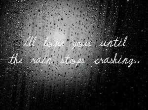 black and white, cute, love, photography, quote, rain, raindrops ...