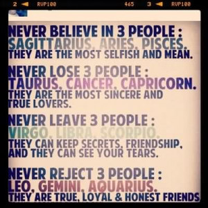 People, Sagittarius, Aries, Pisces They Are The Most Selfish And Mean ...