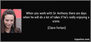 More Claire Forlani Quotes