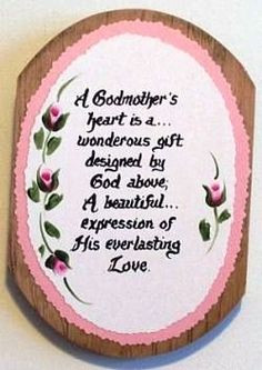 and i love love love my godmother aunt karen and being a godmother to ...