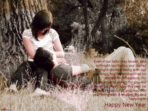 Happy new year to boyfriend with quotes