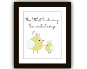 Baby Bird Nursery, Nursery Printabl e, Nursery Quote Print, Baby ...