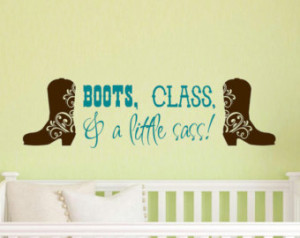 ... little SASS - Perfect vinyl wall decal for your sassy little cowgirl