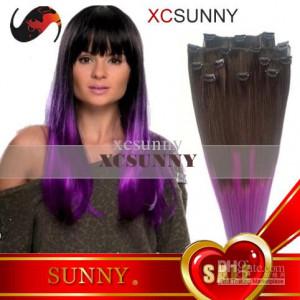 Custom Dip Dye Clip Hair