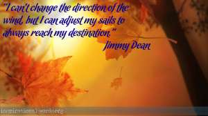 Inspirational Wallpaper Quote by Jimmy Dean