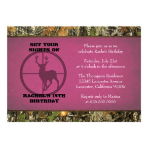 Camo Birthday Girl Invitations from Zazzle.com