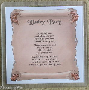 Details about New Born Baby Boy New Parents Gift Drink Mat Coaster